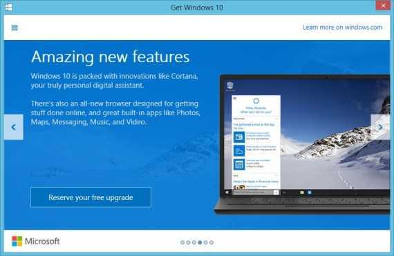 Reserve Free Copy of Windows 10