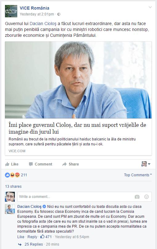 Decența și normalitatea domnului Cioloș