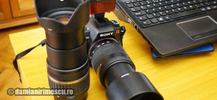 Aparat Foto DSLR Sony α350 + 2 Obiective