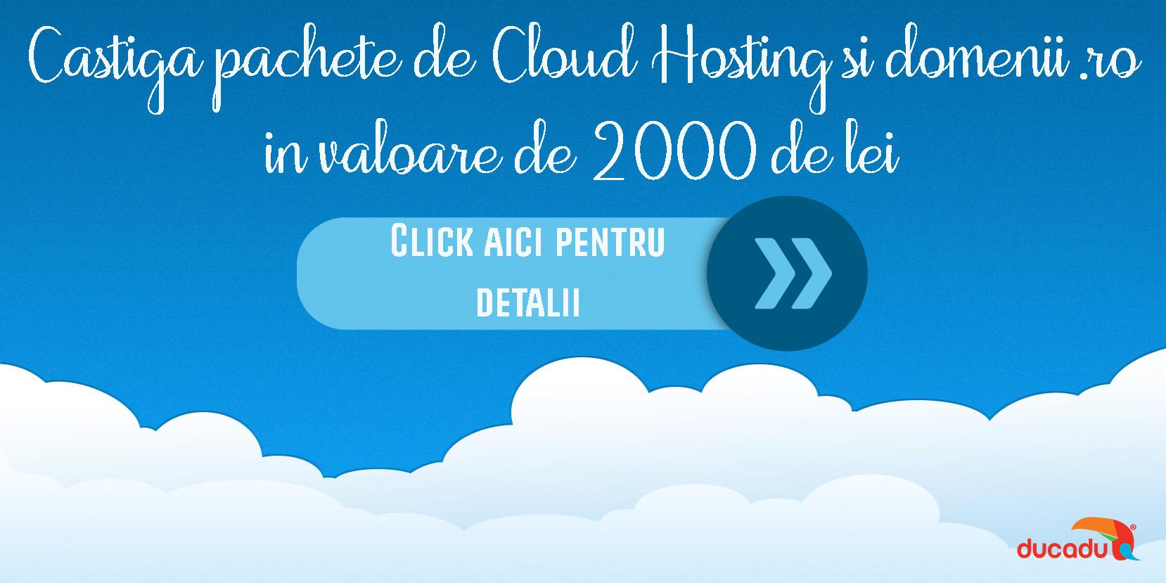Concurs Ducadu Cloud Hosting